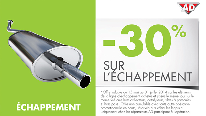 coupon reduction echappement